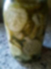 homemade jar of pickles