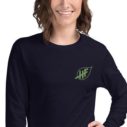 Unisex Long Sleeve Tee Embroidered Logo