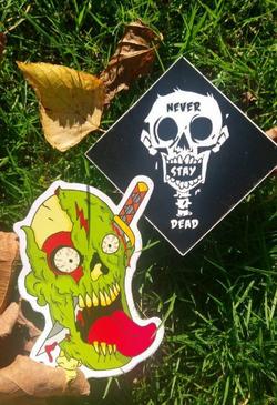 2 x vinyl Stickers