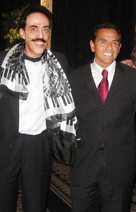 Carlos Rico and Mayor Antonio Villaraigosa