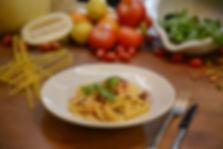 Fusilli Lunghi con Pesto alla Trapanese