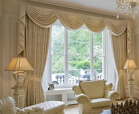 Swags and Tails - Ab Fab Curtains Yorkshire