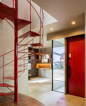 オフィスらせん階段 新築 オーダーメイド住宅 建築家