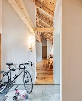 土間のある家 平屋 中庭 カフェ風住宅 新潟