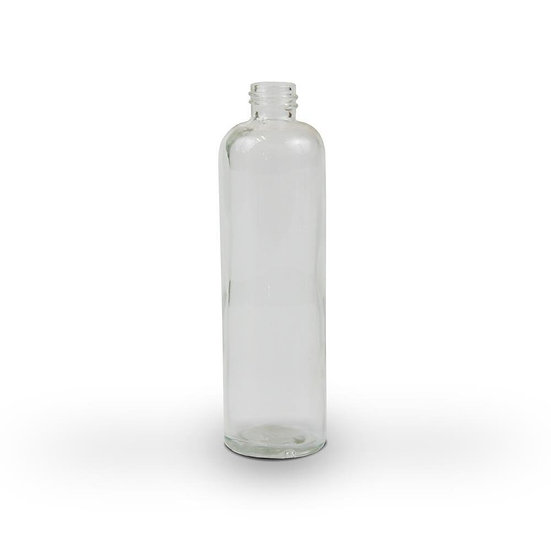 Clear Glass bottle with White Spray top 100ml
