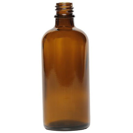 Amber Glass bottle with Black Spray top 100ml