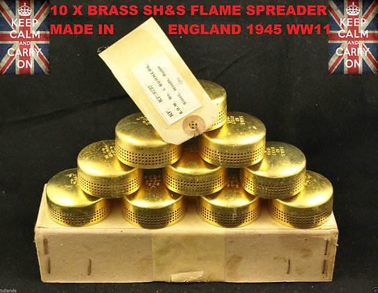 10 x BRASS SH&S FLAME SPREADER 1945