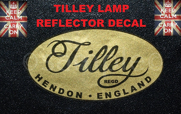 TILLEY LAMP REFLECTOR DECAL STICKER
