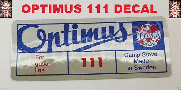 OPTIMUS STOVE 111 DECAL