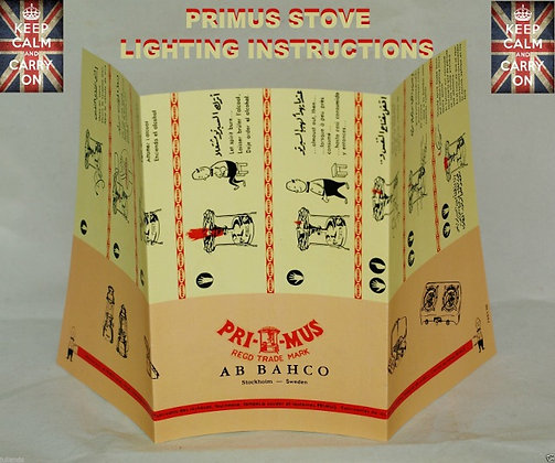 PRIMUS STOVE LIGHTING INSTRUCTIONS