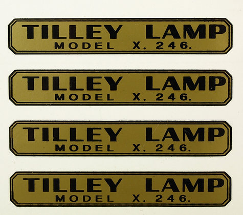 TILLEY LAMP DECAL STICKERS