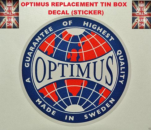 OPTIMUS STOVE REPLACMENT DECAL STICKER