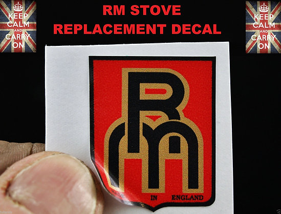 RM STOVE DECAL