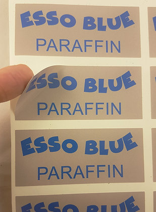 ESSO BLUE DECAL FOR FUEL CANS