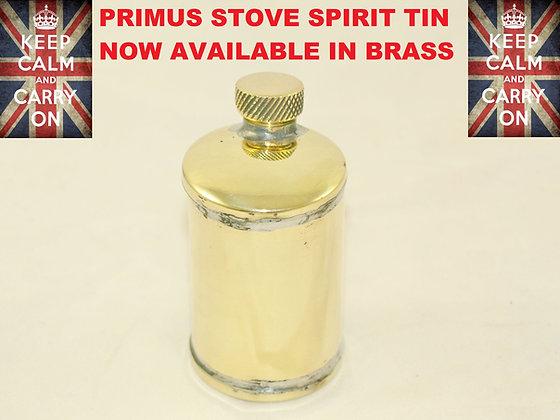 PRIMUS STOVE SPIRIT TIN NOW IN BRASS