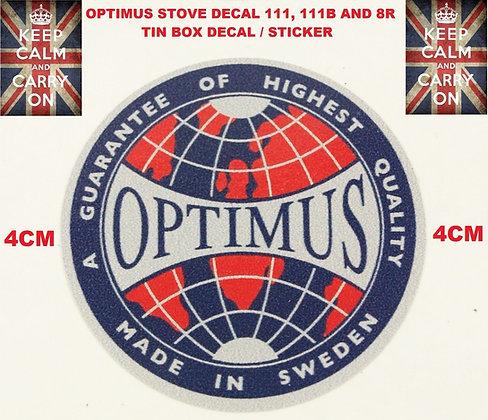 OPTIMUS STOVE DECAL 4CM