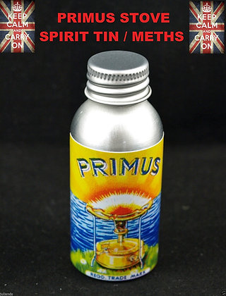PRIMUS STOVE SPIRIT TIN BOTTLE METHS TIN