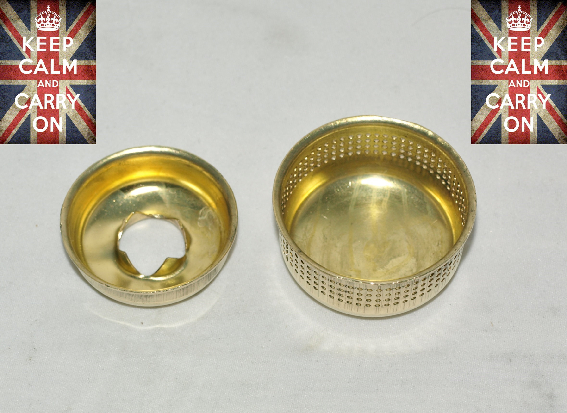 PRIMUS STOVE BRASS FLAME SPREADER AND BRASS INNER CAP