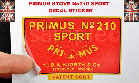 PRIMUS STOVE 210 SPORT DECAL