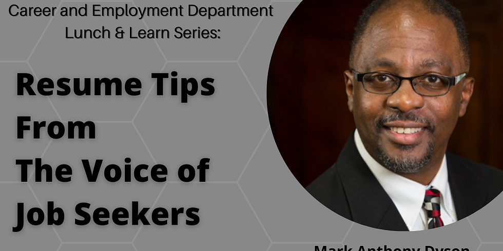 Lunch & Learn with Career Expert Mark Dyson Anthony