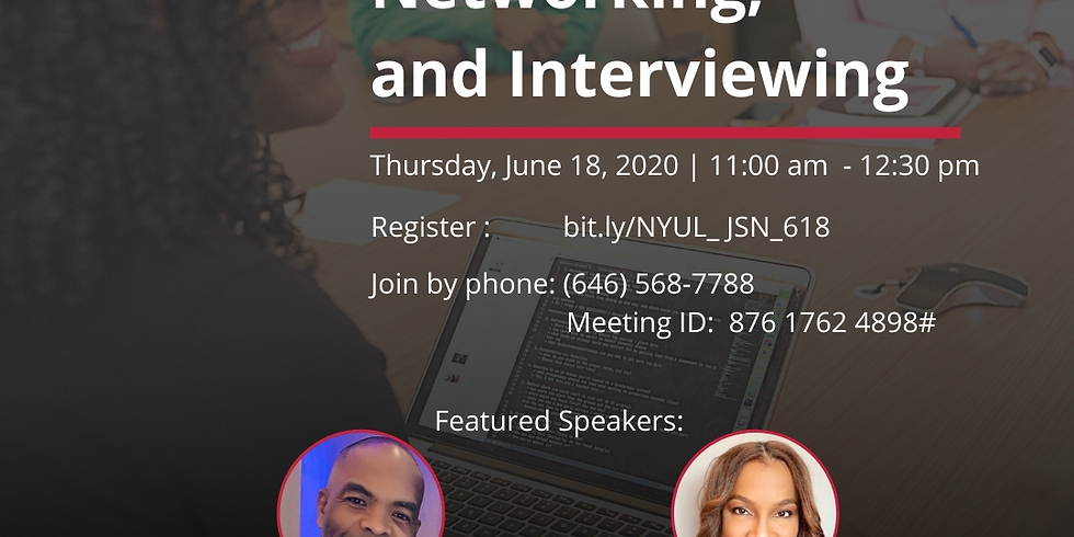 Job Search, Networking, and Interviewing