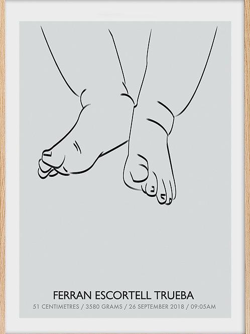 Legs new born memorie
