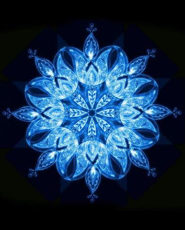 Mandala  digital de diseño realizado en India