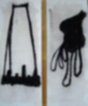 Who Knows If Its Real III und IV, 2012, Zeichnung, gerahmt je 30 x 60 cm