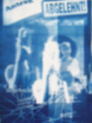 abgestempelt, 2013, Cyanotypie, gerahmt 30 x 40 cm