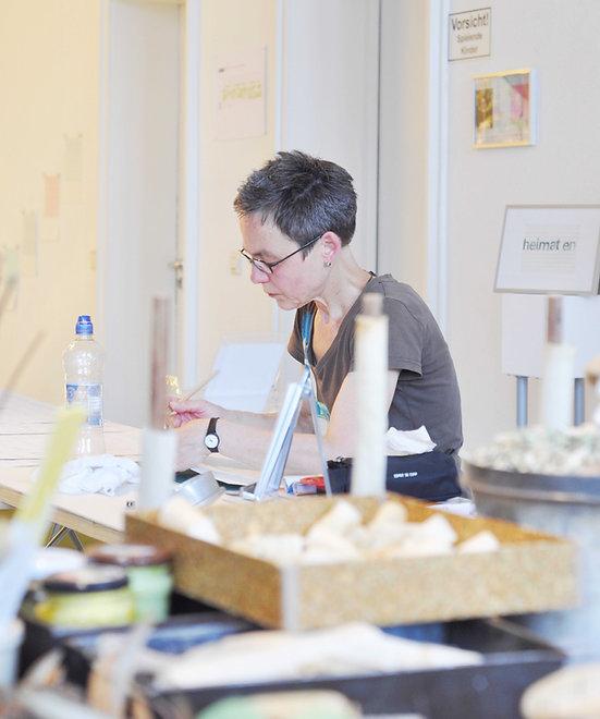 Sylvia Klein, Künstlerin, artist, Koblenz, Juli 2019. Foto: Stefanie Schmeink