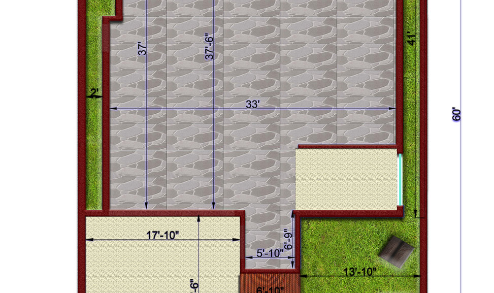 Residence Project Autocad-Model Terrace.