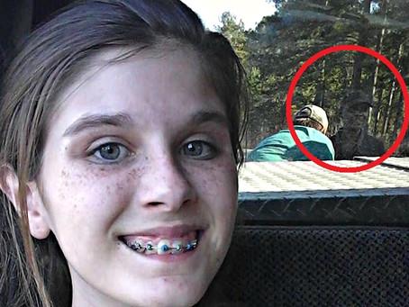 'Ghost man' photobombs teen's selfie