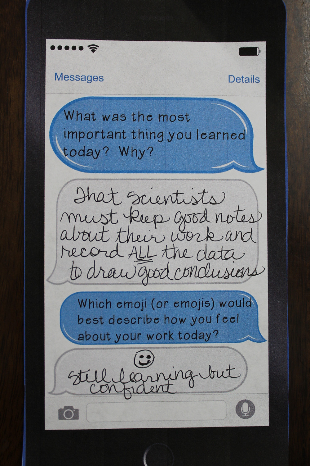 Text Message Exit Ticket
