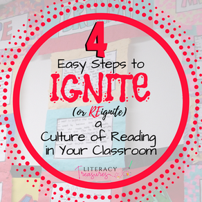 4 Easy Steps to IGNITE (or REignite) a Culture of Reading in Your Classroom