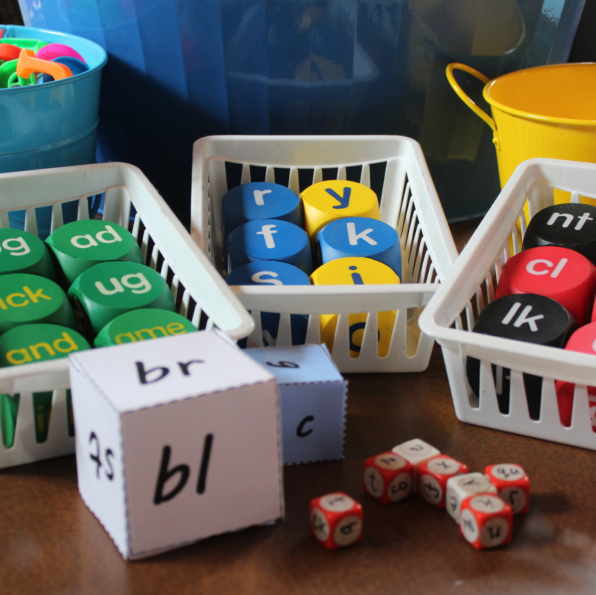 Letter and word part cubes