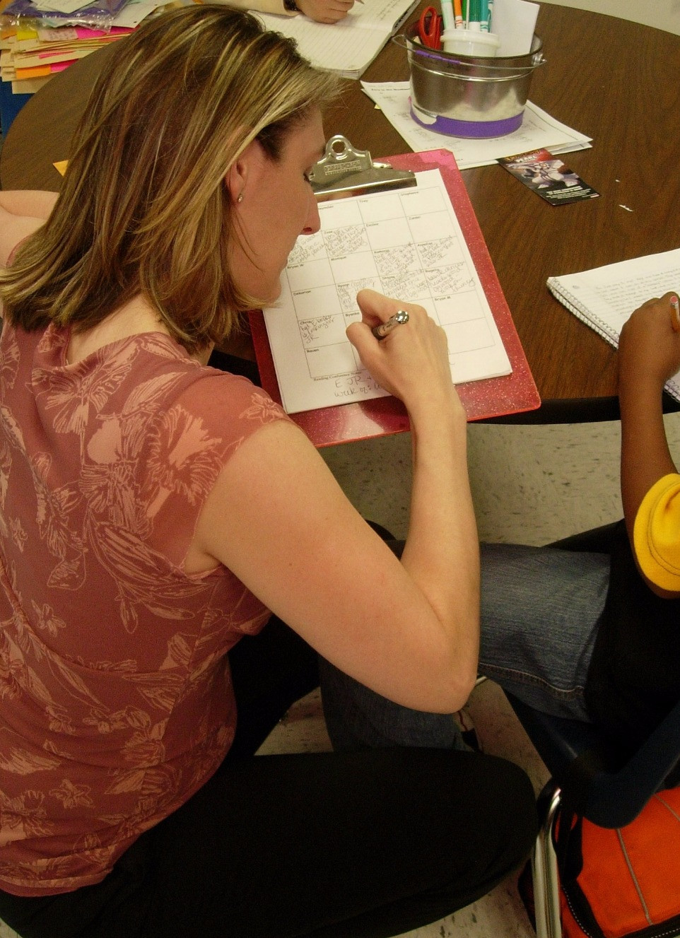 Teacher conferring and anecdotal notes