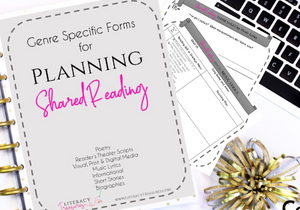 Shared Reading Planning Forms at Teachers Pay Teachers