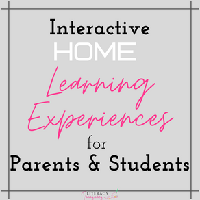 Interactive HOME Learning Experience Menu for Parents & Students