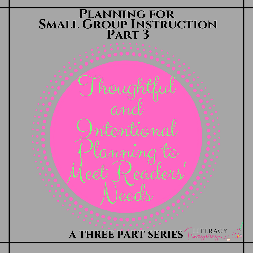 Intentional Small Group Planning