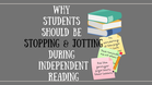 WHY Students SHOULD BE Stopping and Jotting Thoughts While They Read