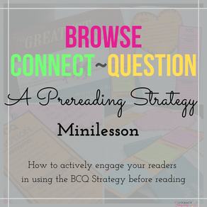 Browse Connect Question: A Quick Prereading Strategy Minilesson To Actively Engage Your Readers