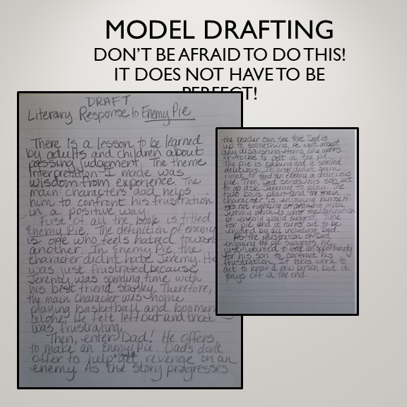 Drafting a Reading Response