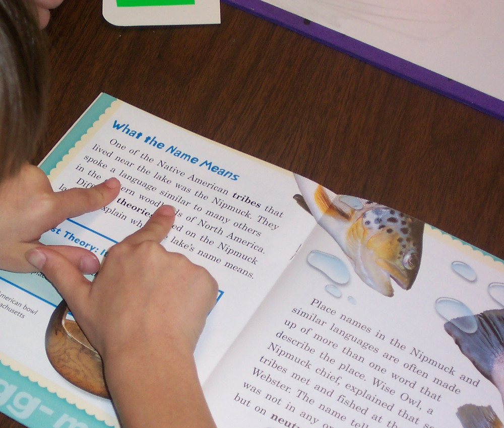 Framing a word in guided reading