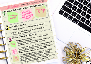 Exit Ticket Analysis; Using Exit Tickets to Inform Instruction
