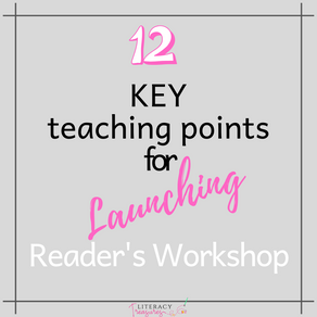 12 KEY Teaching Points for Launching Reader's Workshop