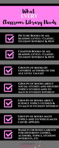 Classroom Library Checklist
