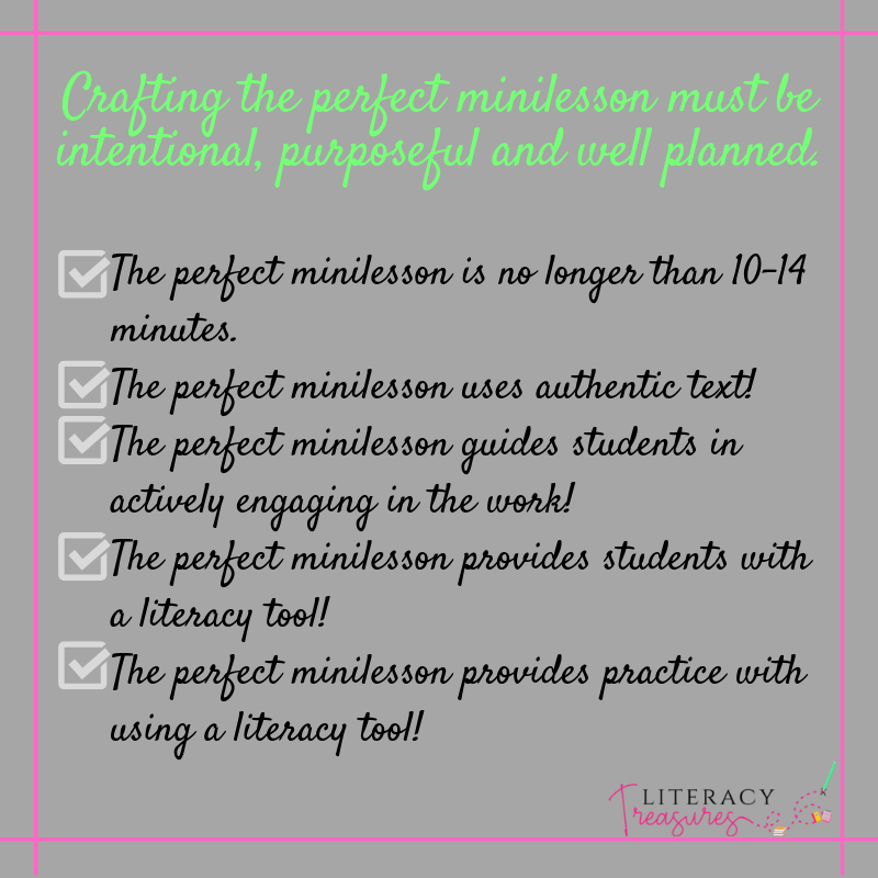 Crafting the perfect minilesson checklist