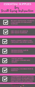 Small Group Supplies Checklist