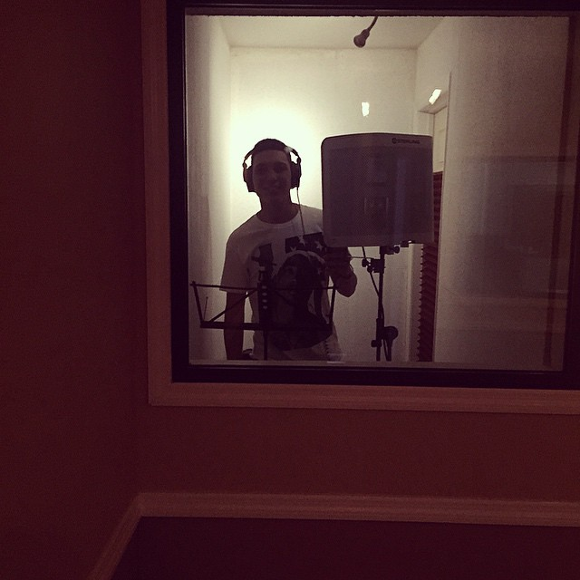 Singer in Vocal Booth