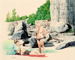 Nielsen Park Rocks by Alan Ewart